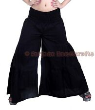 New Women Black Cotton Palazzo Harem Pants Dance Trousers Afghani Yoga Hippie