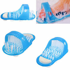 Easy Feet Foot Scrubber Brush Massager Shower Clean Blue Slippers Fine Gift New