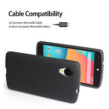 LG Google Nexus 5 [Black] Ultra Fit Premium Flexible TPU Matte Case Cover