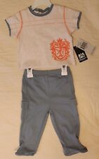 BOYS 0-3 months Juicy Couture Baby 2-piece outfit NWT t-shirt & footed pants