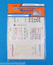 ROCO Minitanks h0 Z 276 set di decalcomanie 3 WWII EDW etc decals HO 1:87 ADESIVI