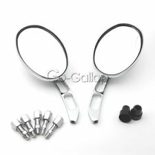 Motorcycle Chrome Oval Rearview Mirrors Fit Kawasaki Vulcan Classic Custom 900