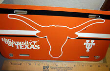 University of Texas Longhorns NCAA plastic License Plate, made in usa