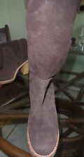 Ugg Australia Josie Brown Suede Heel Slip On Knee High Boots Size U.S. 8 WOMENS