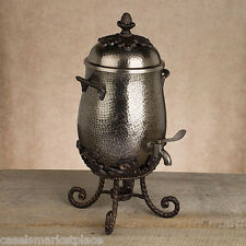 GG COLLECTION Antique Silver Finish Aluminum Metal Coffee Carafe Server