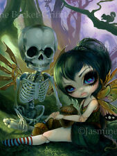 Jasmine Becket-Griffith art print steampunk skeleton & fairy SIGNED Eve and Rib