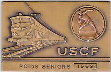 MEDAILLE USCF POIDS SENIORS 1969 SPORT ATHLETISME LANCER DU POIDS