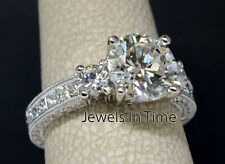 2.03 Carat Round Brilliant Diamond Ring 18k White Gold GIA Certificate Size 5.5