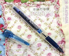 Platinum Preppy PPQ-200 Fountain Pen clear BLUE 0.3 F BLUE BLACK ink