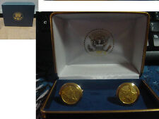 Pair of  new  presidential secret service cufflinks   - no signature