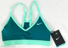 Nike Pro Women's Light Support Sports Training Bra Teal Green 826643 Size M