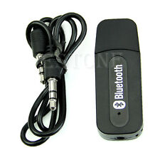 New Black USB Bluetooth 3.5mm Stereo Audio Music Receiver For iPhone4 4S 5 Mp3