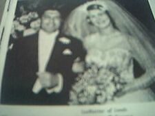 magazine article / picture - 1959 wedding leeds wedding p rakusen / miss c a lan
