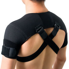 Kuangmi Adjustable Back Shoulder Support Brace Belt Corrector Posture Therapy S