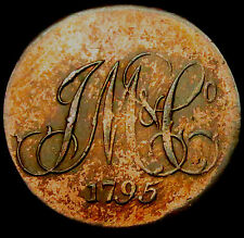 P976: 1795 Trade Conder Token : Whitfields Halfpenny : D&H Middx.911b.  Rare.