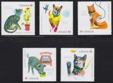 Canada 2015 #2830i-34i Love Your Pet - set of 5 - die cut