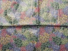 """Stanley King Mauve Navy Green Teflon Coated Cotton Seat Cover Fabric 54""""x 37"""""""