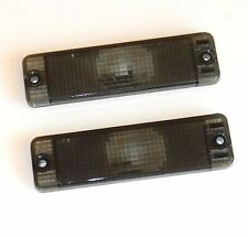 VW GOLF MK1 & MK2 JETTA CADDY POLO - FRONT INDICATOR LENS SET LH+RH SMOKED PAIR