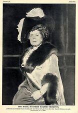 Mme.Granier berühmte französische Schauspielerin Historische Aufnahme von 1909