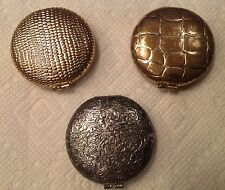 Vintage Lot Of Three Revlon Make-up Compacts Mirrors Intact