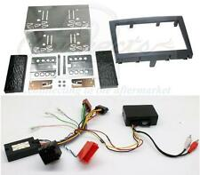 Porsche Boxster Double Din Fitting Kit with Steering and Amplifier Adaptor Black