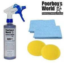 Poorboys Quick Detailer Plus Spray High Gloss QD+ & 2 Free Cloths & Pads