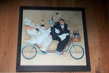 Chefs & Bicycle Built for Two plaque Kitchen Wall Decor Picture Fat French Chef