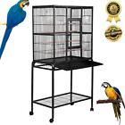 LARGE BIRD CAGE Parrot Aviary Pet Stand Alone Budgie Perch Castor Wheels 160cm