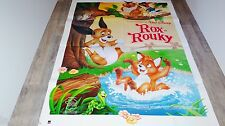 ROX ET ROUKY  ! affiche cinema animation bd disney 1981