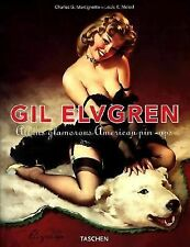 GIL ELVGREN All His Glamorous American Pin-Ups Pinup Girls Picture Book LIKE NEW