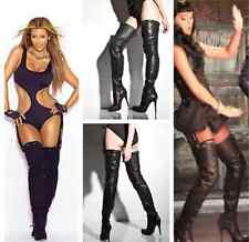 "SUPER SEXY!!! REPORT SIGNATURE ""KANE"" HIGH HEEL LEATHER OVER THE KNEE BOOTS 7.5"