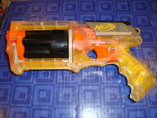 NERF N STRIKE MAVERICK REV-6 PISTOL,QTY 1 GUN, 6 SHOT REVOLVER CLEAR YELLOW