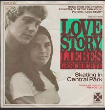 """7"""" Fancis Lai Love Story (Liebesgeschichte) / Skating In Central Park 70`s"""