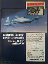 12/1991 PUB BELL HELICOPTER TEXTRON DRONE EAGLE EYE NAVY MARITIME UAV AD