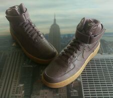 Nike iD Air Force 1 High Purple/Gum-Black Dots Size 9 Low Mid 808785 999 New