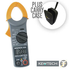 Kewtech KT200 Digital 400A 600V AC Current Voltage Clamp Meter &HTC25 Carry Case
