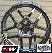 17/18 inch Chevy Corvette Wheels C5 Z06 Chrome Rims & Lug Nuts fit C4 1988-1996