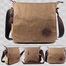 Men's Vintage Canvas Schoolbag Satchel Shoulder Messenger Bag Laptop Bag US