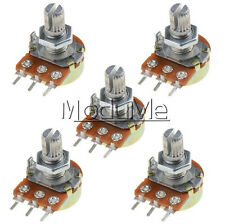 5PCS WH148 Type B1K Ohm Linear Taper Rotary Potentiometer Panel Pot 3Pin New M