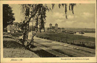Minden Westfalen Postkarte ~1920/30 Partie am Kanalgelände mit Schleusenanlagen