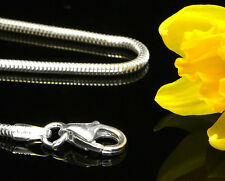 """ITALIAN REAL Snake Sterling Silver Chain 1.6mm - 16""""/41cm - CH054 RRP£25!!!"""