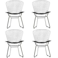 LexMod EEI-926-BLK CAD Dining Chairs Set of 4, Black NEW