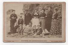 PHOTO CABINET LANGRUNE SUR MER BRÉCHET CAEN Groupe Vers 1880 Tirage albuminé
