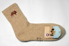 Very warm soft 70% Camel Wool Winter Socks, 1 pair. Made in Mongolia.