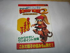 Super Donkey Kong 2 Dixie and Diddy Super Famicom Guide Book Japan Import