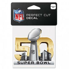 "SUPER BOWL 50 YEARS NFL 4""X 4"" DIECUT COLOR DECAL Santa Clara, California USA"