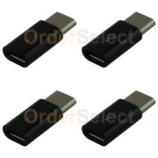 4X USB Type C Male to Micro USB Converter Adapter for Motorola Moto Z / Z Force