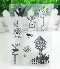 1pc Bird Silicone Rubber Clear Stamp Seal Scrapbooking Diary Christmas Card