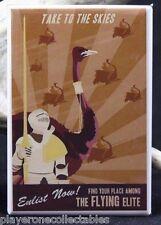 Joust Enlistment Poster - Fridge / Locker Magnet. Classic Arcade Video Game