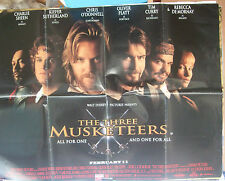 Charlie Sheen Rebecca De Mornay THE THREE MUSKETEERS(1993) Original movie poster